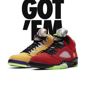 Jordan 5s, What The